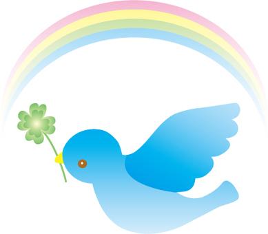 藍鳥和三葉草和彩虹