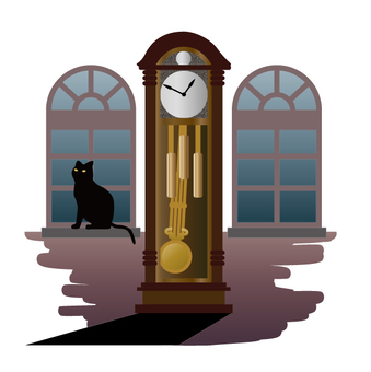 Watch and black cat