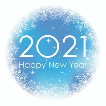 2021年 新年の円形のシンボル