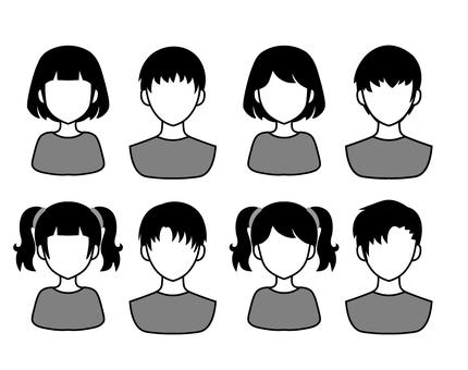 人物圖標集男人和女人 / 剪影 2