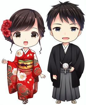 Kimono men and women