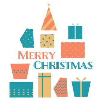 Christmas gift text illustration