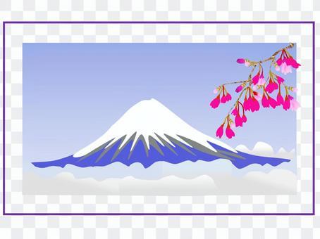 f富士山背景01