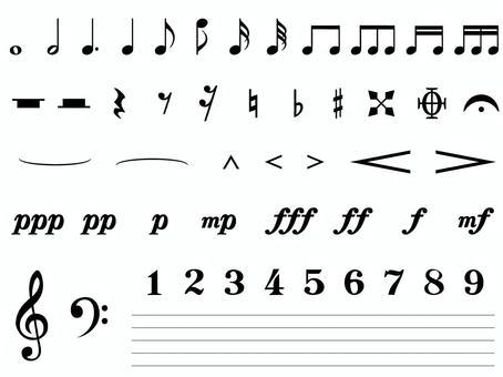 Music symbol set