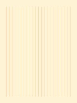 22行素色文具(豎)|黃色