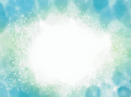 夏天素材小川閃閃發光的圖像水彩背景