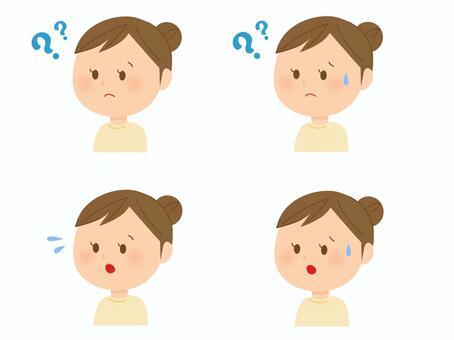 各種女性的面部表情2
