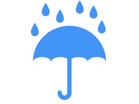 雨和傘圖標 B:藍色