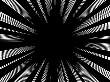 モノクロ漫画表現 白集中線