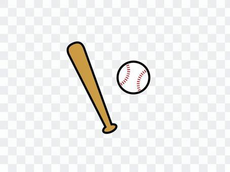 棒球棍和球