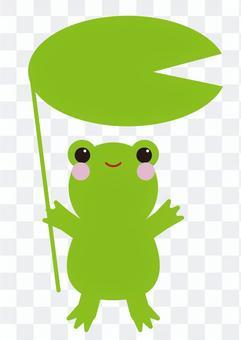 性格(青蛙,荷葉)