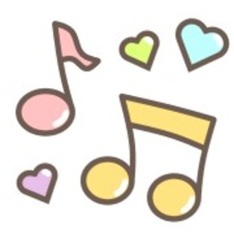 Music musical notes colorful cute heart