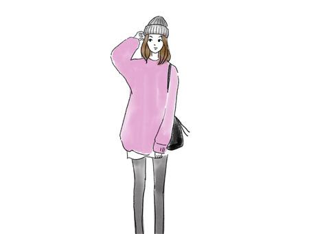 女針織針織帽站圖