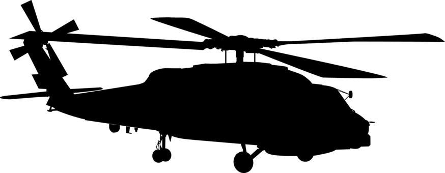 ヘリコプター シルエット