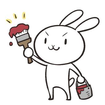 Rabbit to paint
