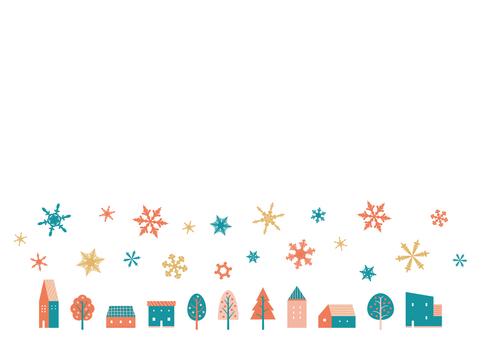 家和雪聖誕材料