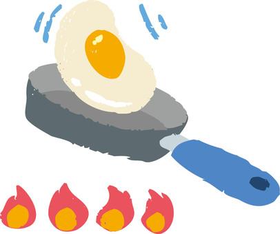 煎雞蛋和煎鍋