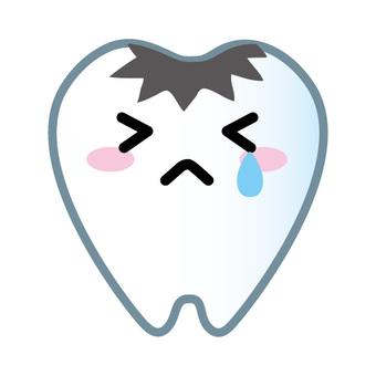 吉祥物(蛀牙)的牙齒