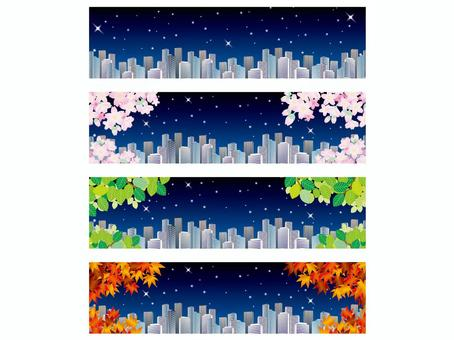 Banner: Four Seasons (6) Night in a Business District