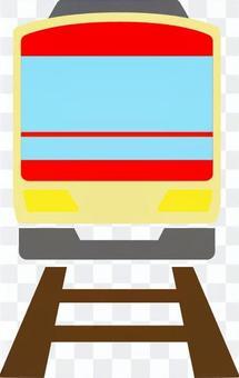 帶火車軌道的前紅色