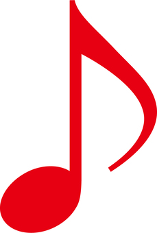Eighth note _ red