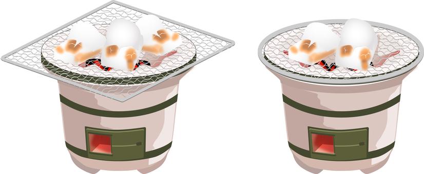 七輪麻糬圓形烤盤套裝