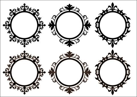 Frame for labels