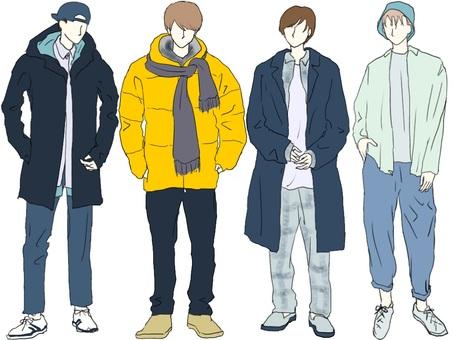 Street fashion men's set
