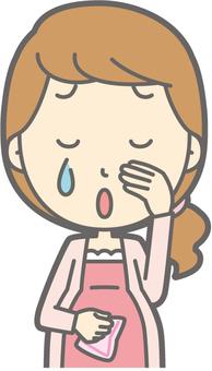孕婦哭泣 - 胸圍