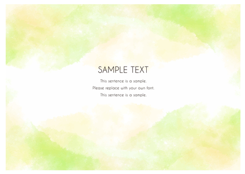 Watercolor-style hand-painted material that can be used as a background_28