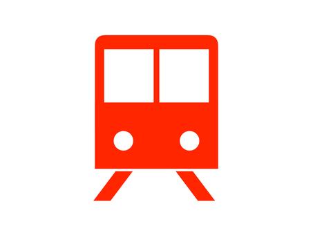 火車圖標剪影紅色