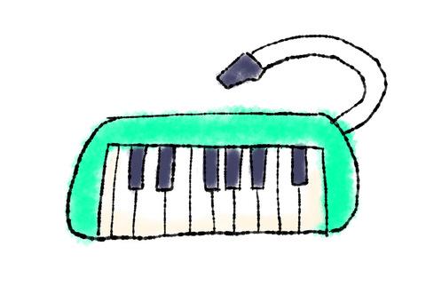 綠色鍵盤口琴