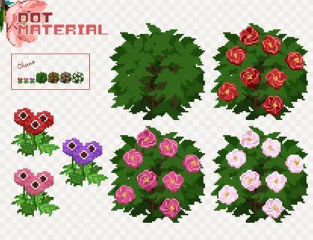 點材料-春天的花朵