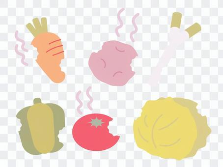 損壞的蔬菜