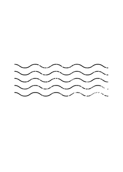 Stamp wavy line