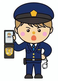 男39_11(警察,手銬,警察手冊)