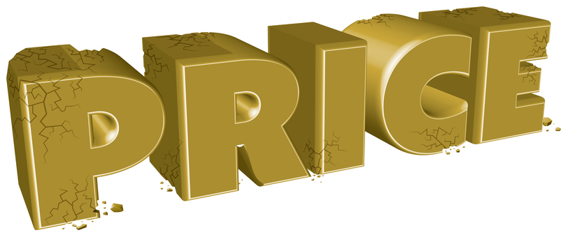 Price destruction golden three-dimensional characters