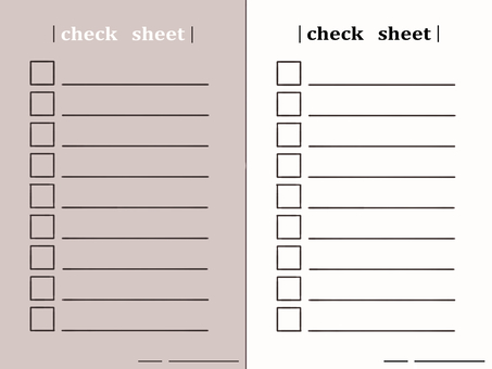 檢查表清單學校打印
