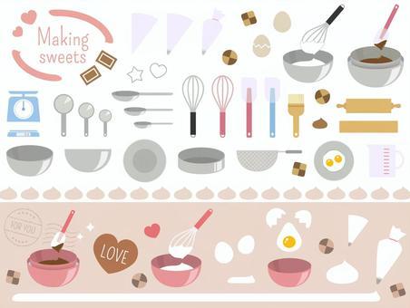 糖果製作工具和奶油