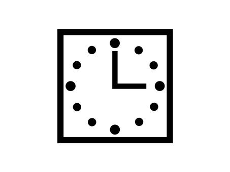 時鐘 3 點鐘剪影廣場