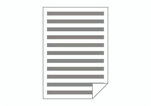用於記憶句子的紙張圖標