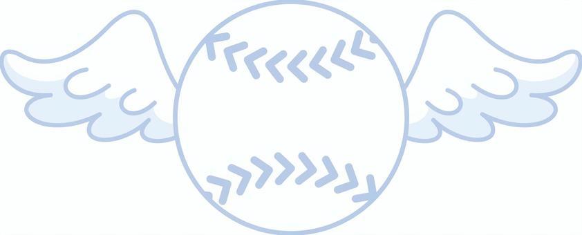 翼のはえた野球のボール 軟球