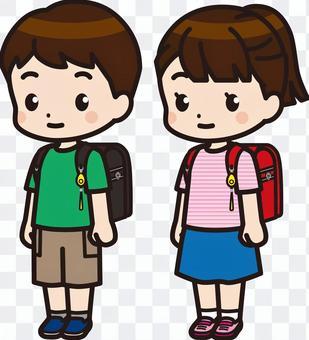 小學男孩和女孩1