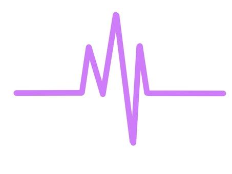 心電波形紫色