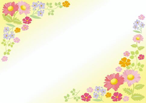 Spring flower frame 5