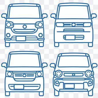 輕型車_front_monochromatic version_set