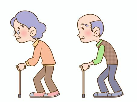 歩く高齢者