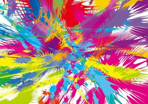 多彩塗料爆炸