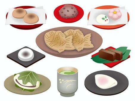 日本糖果的插圖
