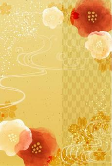 Japanese-style background material 28 (vertical)